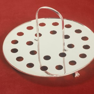 Circular Silverplated Communion Tray