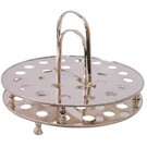 Circular Silverplated Stacking Communion Tray
