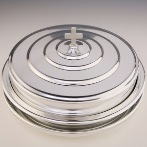 Silvertone Aluminium Communion Tray Cover