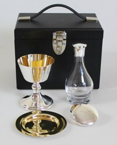 Silverplated Old English Communion Set